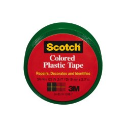 Scotch Colored Plastic Tape 190GN, 3/4 in x 125 in