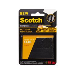Scotch Outdoor Fasteners RF5731B, 1 in x 3 in (25,4 mm x 76,2 mm) Black, 2 Sets of Strips