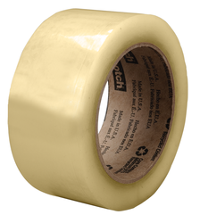 Scotch Recycled Corrugate Tape 3073 Clear, 48 mm x 100 m, 36 rolls per case Bulk