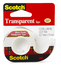 Scotch Transparent Tape 144, 1/2 in x 450 in