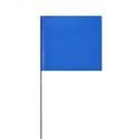 Solid Blue Glo Marking Flags