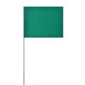 Solid Green Marking Flags
