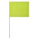 Solid Lime Glo Marking Flags