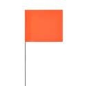 Solid Orange Glo Marking Flags