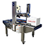 Uniform Semi Automatic Case Sealer with HSD 2000 Tape Head, Stainless Steel Side Belt Drive