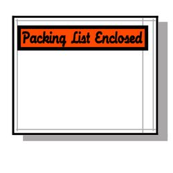 LAD 3873 Packing List Envelopes, 4 1/2 in x 6 in, 1000 Per Carton