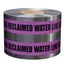 PRESCO D6105PP115-457 6 x 1000 Ft, 5 Mil, Caution Buried Reclaimed Water Line Below Purple Detec