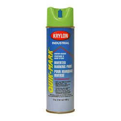 PRESCO PIFNG16W Krylon Quik Mark Water Based Inverted Marking Paint Fluorescent Safety Green, 16 fl