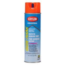 PRESCO PIFO16W Krylon Quik Mark Water Based Inverted Marking Paint Fluorescent Orange, 16 fl oz, 12