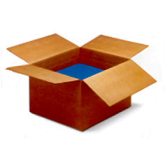Regular Slotted Containers Brown, SingleWall, 8 x 4 x 4, 25 Per Bundle