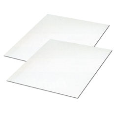 HP-TP12 Corrugated Pads and Sheets White, SingleWall C Flute, 8 x 8, 50 Per Bundle