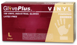 AMMEX IV42100 GlovePlus Powdered Industrial Grade Vinyl Gloves Clear, Small, 100 Gloves Per Box, 10