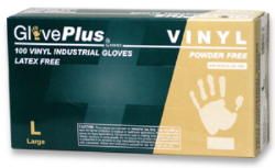 AMMEX IVPF42100 GlovePlus Powder Free Industrial Grade Vinyl Gloves Clear, Small, 100 Gloves Per Bo
