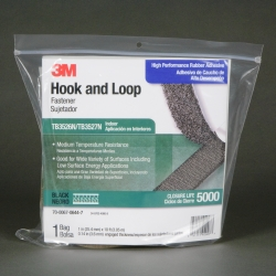 3M Fastener SJ3527N Loop S030 Black, 3 in x 50 yd 0.15 in engaged thickness, 1 per case Bulk