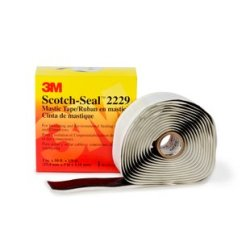3M Scotch-Seal Mastic Tape Compound 2229, 1-1/2 in x 30 ft, Black, 5 rolls/Case