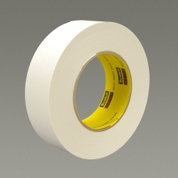 3M Repulpable Strong Single Coated Tape R3187 White, 24mm x 110m, 9 per case