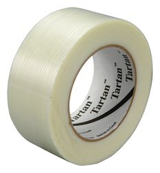 3M Filament Tape 8934 Clear, 48 mm x 55 m, 24 individually wrapped rolls per case Conveniently Pac