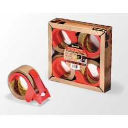 Scotch Box Sealing Tape with Dispenser PSD2 Clear, 48 mm X 50 m, 24 per case