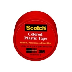 Scotch Colored Plastic Tape 191RD, 1.5 in x 125 in