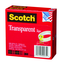 Scotch Transparent Tape 600 Clear, 1/2 in x 1296 in, 144 per case Boxed