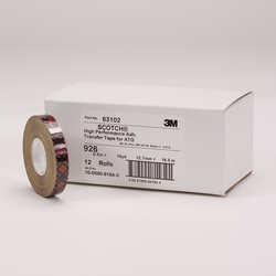 Scotch ATG Adhesive Transfer Tape 926 Clear, 0.50 in x 18 yd 5.0 mil, 12 rolls per inner 6 inners