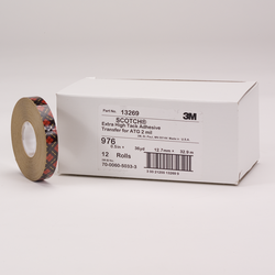 Scotch ATG Adhesive Transfer Tape 976 Clear, 0.50 in x 36 yd 2.0 mil, 12 rolls per inner 6 inners
