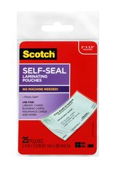 Scotch Self-Sealing Laminating Pouches LS851G Business Card size