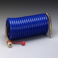 3M Supplied Air Hose W-2929-25, 25 ft, 3/8 in ID, Industrial Interchange Fittings, High Pressure,