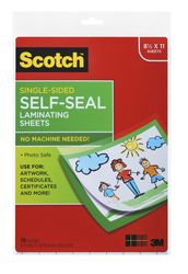 Scotch Single-Sided Laminating Sheets LS854SS-10, 9 in x 12 in Letter Size Single Sided