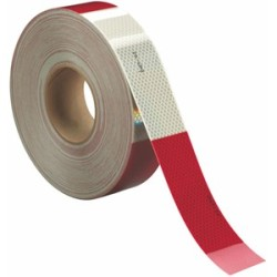 3M Diamond Grade Conspicuity Marking 983-326 ES Red/White, adhesive coated, linered, 1 1/2 in x 15