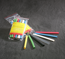 3M Heat Shrink Thin Wall Tubing Assortment Pack FP-301-1/4-Assort colors, 6 pieces, 3 Each of 7