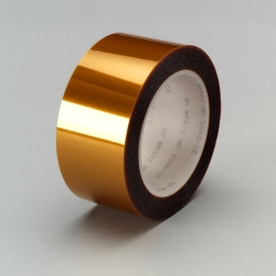 3M Linered Low Static Polyimide Film Tape 5433 Amber, 6 in x 36 yd, 2 per case Bulk