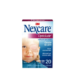Nexcare Opticlude Orthoptic Eyepatch 1537, Junior, 2.44 in x 1.81 in (62 mm x 46 mm) 20 Patches/Bo