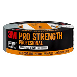 Scotch Pro Strength Duct Tape 1260-A, 1.88 in x 60 yd (48.0 mm x 54.8 m) 24 rls/cs