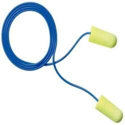 3M E-A-Rsoft Yellow Neons Corded Earplugs, Hearing Conservation 311-1250 in Poly Bag Regular Size