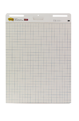 Post-it Self-Stick Easel Pad 560SS, 25 in x 30 in, 30 shts/pad, White Paper w/Faint Blue Grid Line
