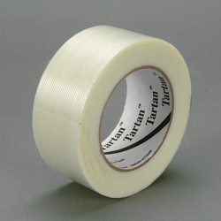 3M Filament Tape 8934 Clear, 48 mm x 100 m, 24 rolls per case