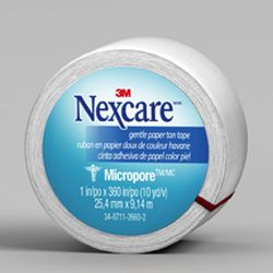 Nexcare Micropore Paper First Aid Tape, 530-P1/2, 1 in x 10 yds, Wrapped