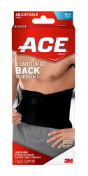 ACE Contoured Back Support 205324, One Size Adjustable