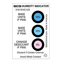 SCS Humidity Indicator Card (Hic), 125/Can