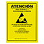SCS SIGN17X22S - 17 in x 22 in, ESD Attention Poster Sign, RS-471, Spanish, Yellow
