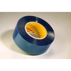 3M Polyester Tape 8905 Blue Plastic Core, 1 in x 72 yd, 36 rolls per case