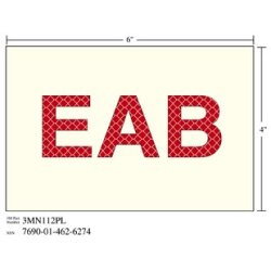 3M Photoluminescent Film 6900, Shipboard Sign 3MN112PL, 6 in x 4 in, EAB, 10/pkg