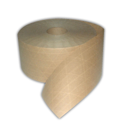 Central 240 PRINTED Custom Printed Production Grade Reinforced Kraft Gum Tape 240 Natural, 72 mm x
