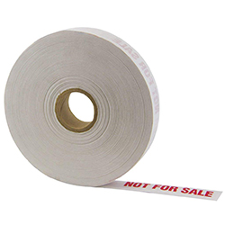 Light Duty Kraft Gum Tape 140 White, NOT FOR SALE Print, 1 in x 500 ft, 30 Per Case