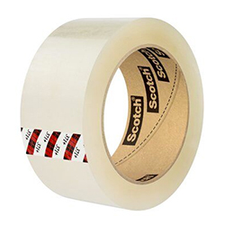 Scotch High Tack Box Sealing Tape 371+ Clear, 48 mm x 100 m, 36 per case