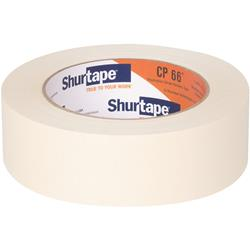 Shurtape CP 66 Contractor Grade, High Adhesion Masking Tape - Natural - 36mm x 55m  - 24 rolls per