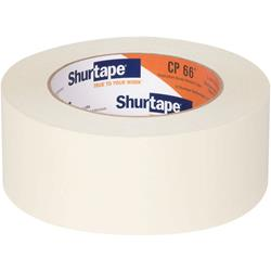 Shurtape CP 66 Contractor Grade, High Adhesion Masking Tape - Natural - 48mm x 55m  - 24 rolls per