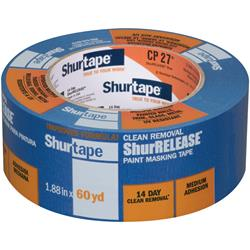 Shurtape CP 27 14-Day ShurRELEASE Blue Painter's Tape - Multi-Surface - Blue - 48mm x 55m  - 24 ro