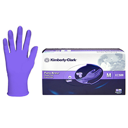 Kimberly-Clark KC500 - Nitrile Powder Free Exam Gloves Purple, 55082 Medium, 100 per box